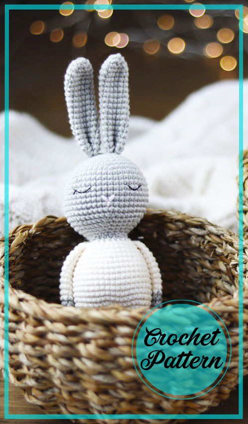 Easy Bunny amigurumi toy crochet free pattern