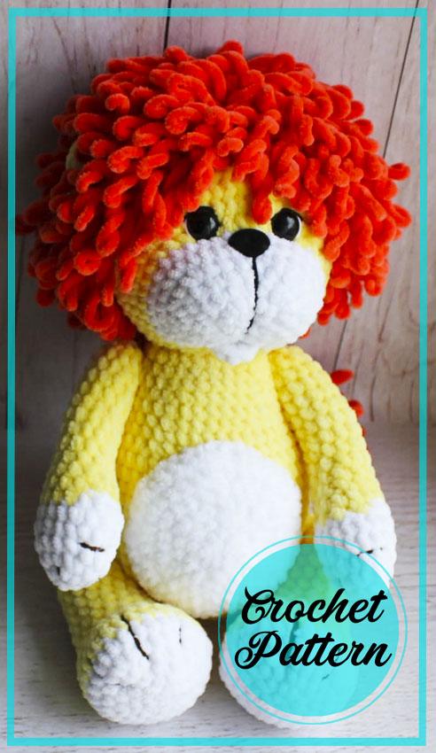 Velvet Lion Amigurumi free crochet pattern