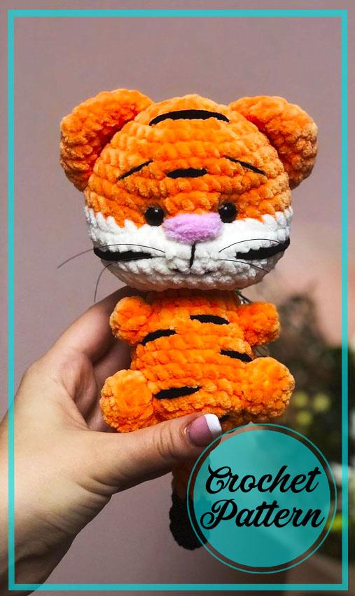 Lovely Velvet Tiger Amigurumi free pattern