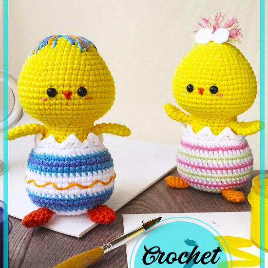 Easter Chick Amigurumi crochet free pattern
