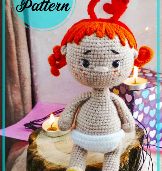 Red Hair Girl Amigurumi doll free crochet pattern