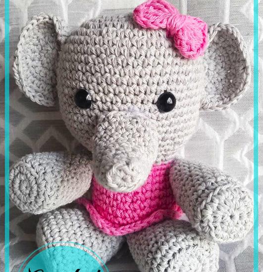 Little Elephant Amigurumi free Pattern