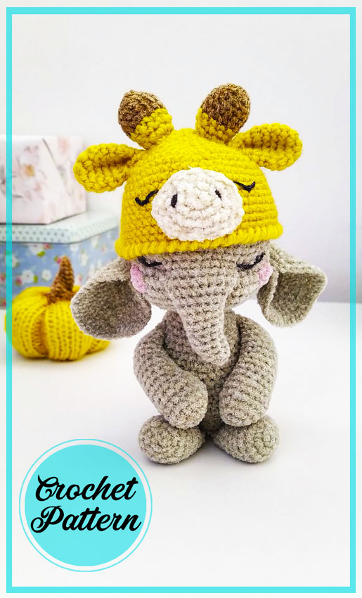 Baby Elephant amigurumi free crochet pattern