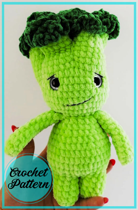 Little Broccoli Amigurumi crochet free pattern
