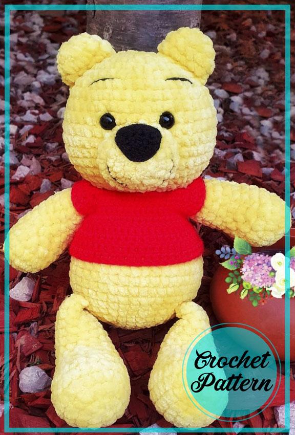 Winnie the Pooh Bear Amigurumi Free Crochet Pattern
