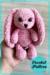 Plush Pink Bunny Amigurumi free crochet pattern