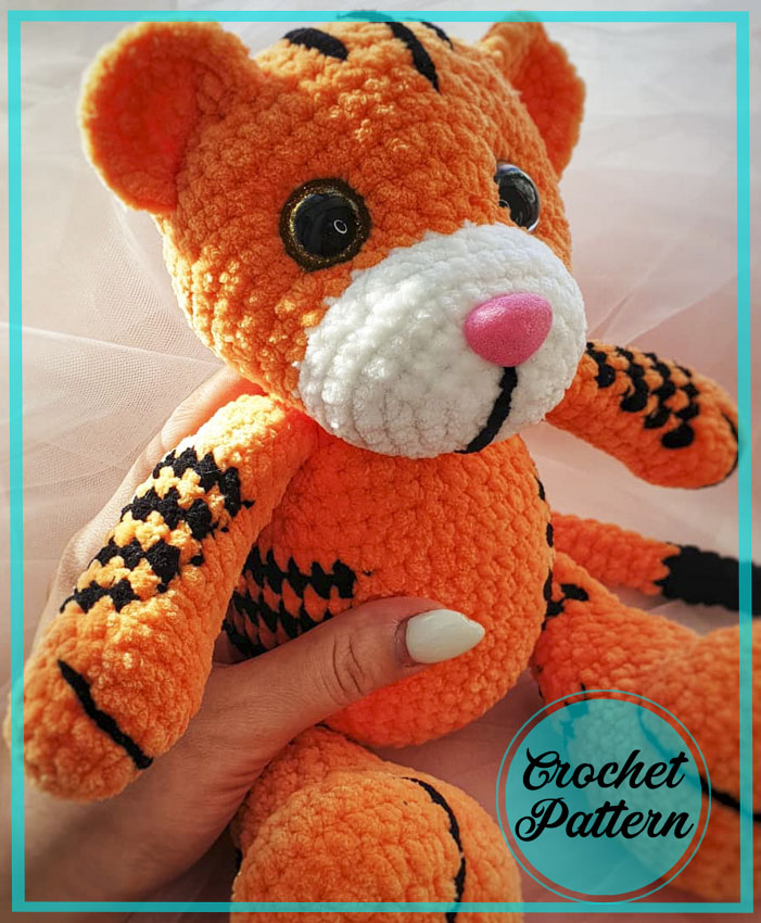 Plush Tiger amigurumi free crochet pattern
