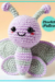 Ellie the butterfly amigurumi crochet free pattern
