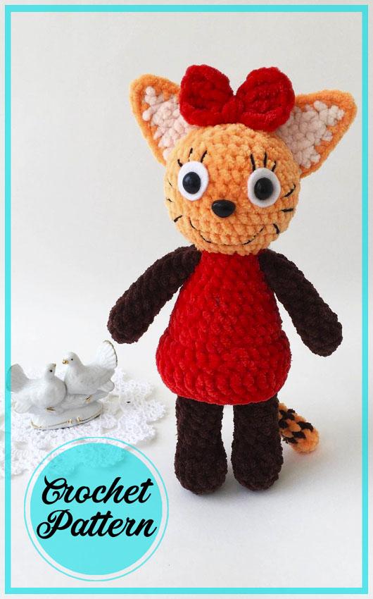 Caramel fox amigurumi crochet free pattern