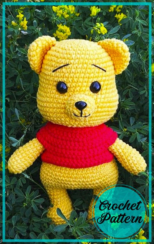 Little Winnie Teddy Bear Amigurumi Crochet Pattern