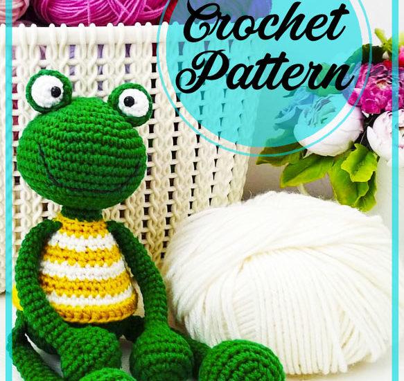 Green Frog Amigurumi crochet pattern for beginners