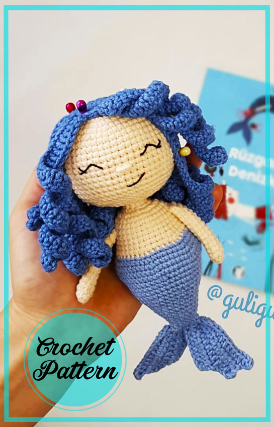 Mermaid Derin Amigurumi Crochet Free Pattern