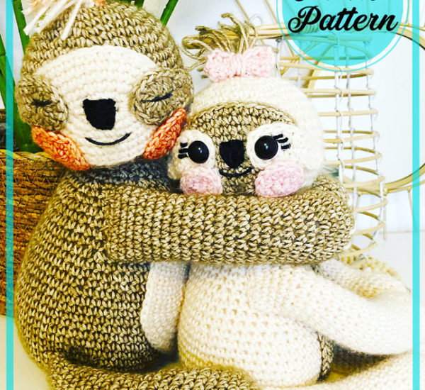 Sloths of love amigurumi free crochet pattern