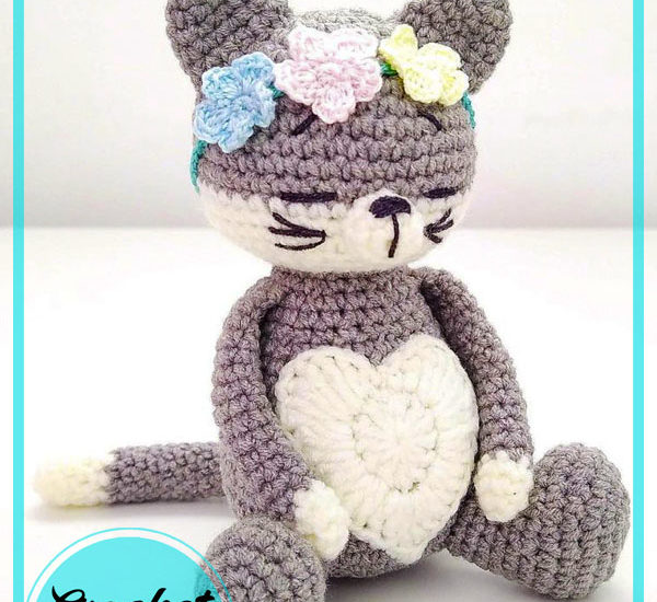 Cute Girl Cat Amigurumi Free Crochet Pattern