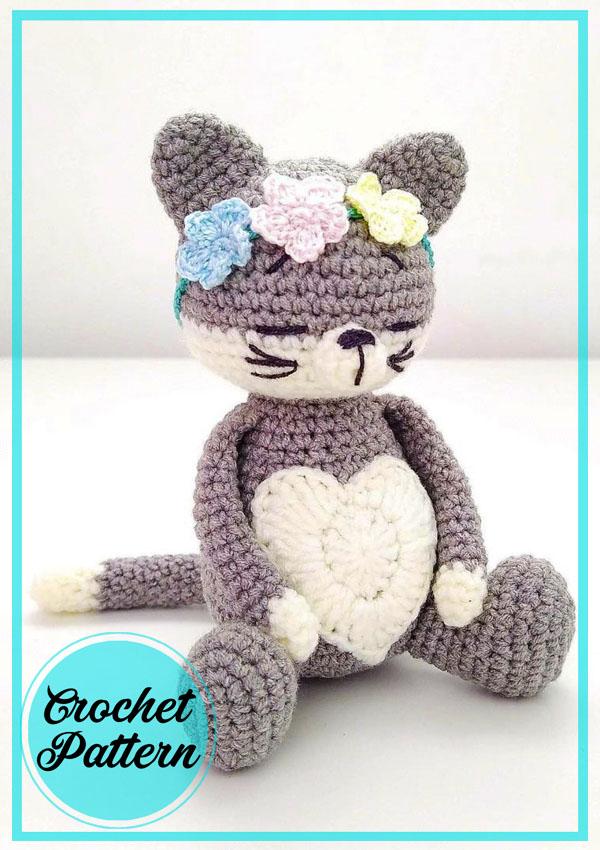 Cute Girl Cat Amigurumi Free Crochet Pattern
