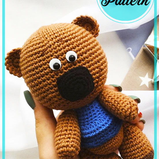 Little Brown Teddy Bear Amigurumi Crochet Pattern