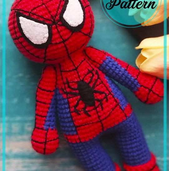 Amazing Spiderman Amigurumi Crochet Pattern
