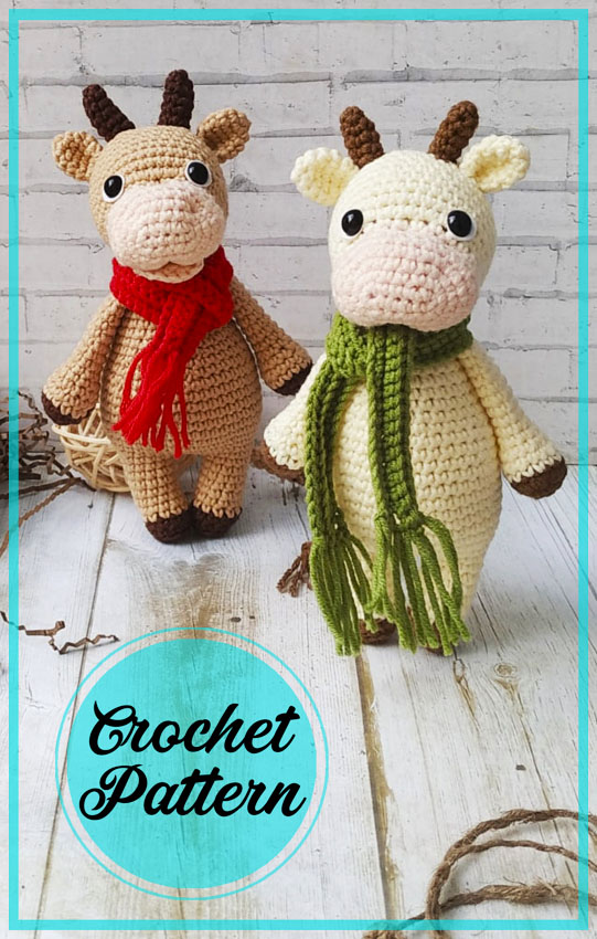 Bull Yashka Amigurumi crochet free pattern