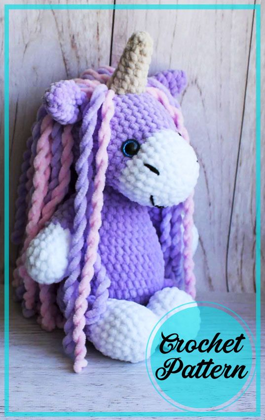 Plush Colorful Unicorn Amigurumi Free Pattern