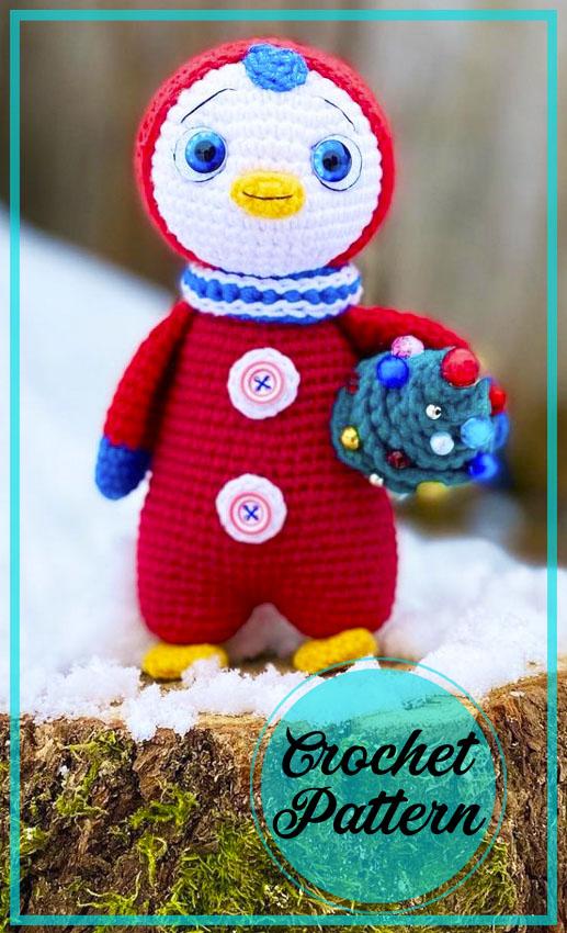 Christmas Penguin amigurumi crochet pattern