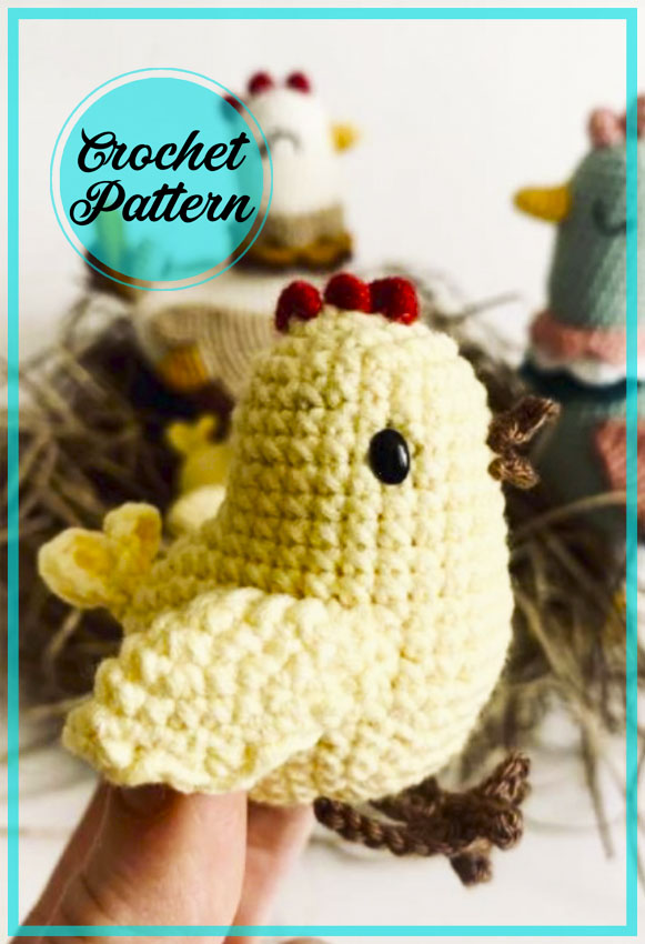 Little Chicken Amigurumi crochet free pattern