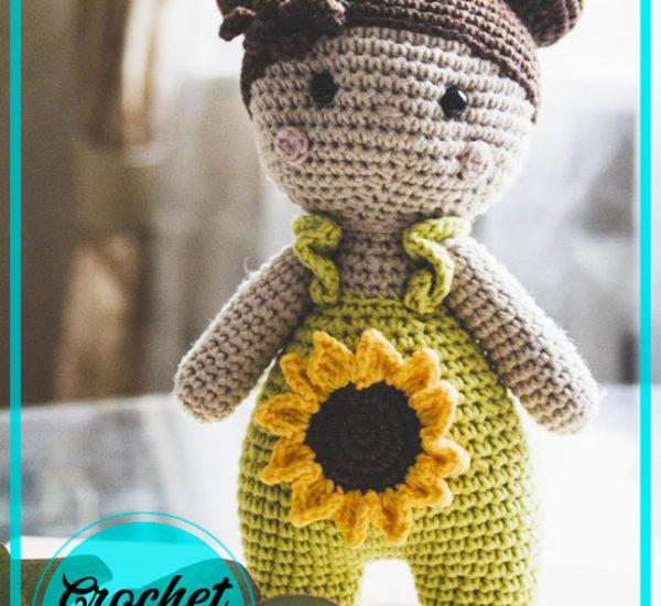 Sunflower Girl Amigurumi Crochet Pattern