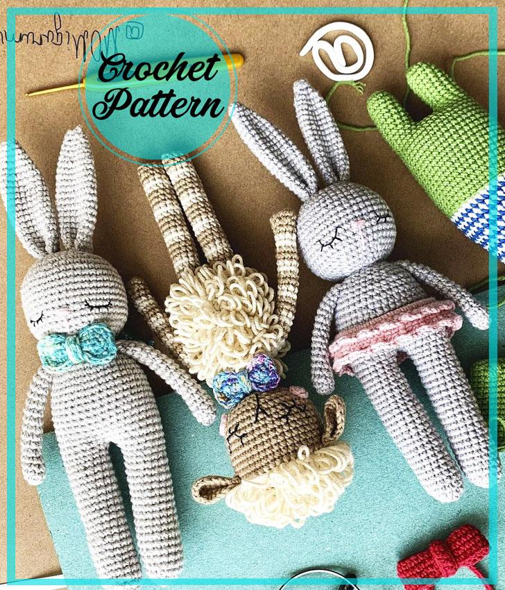 Easy bunny amigurumi crochet pattern for beginners