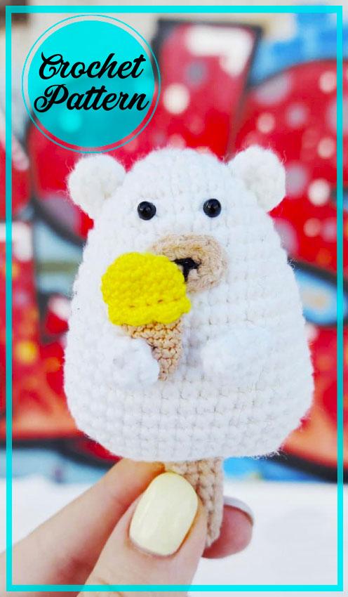 Ice Cream Bear amigurumi crochet pattern