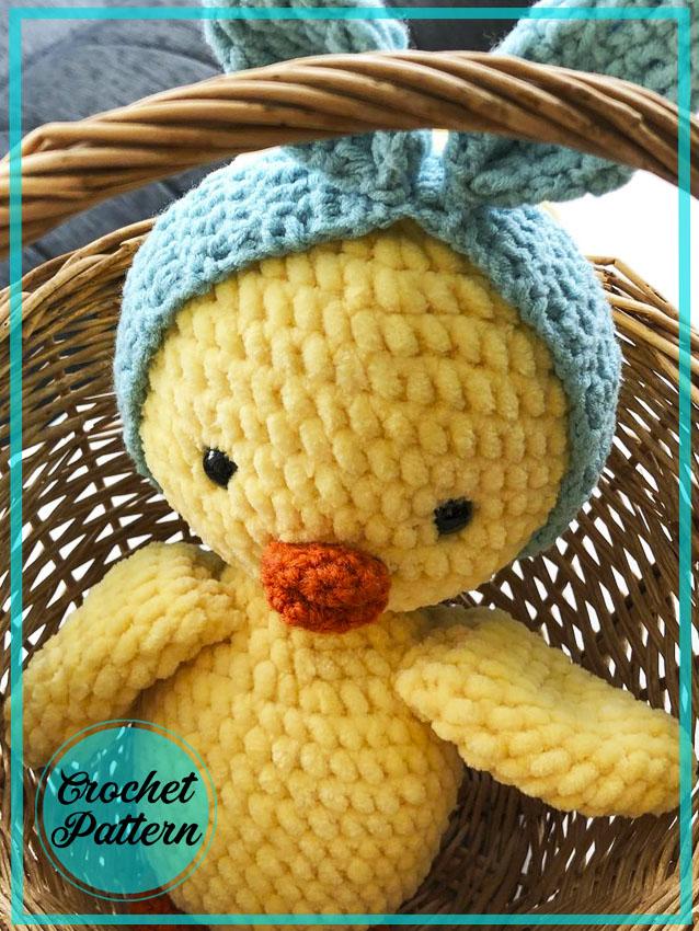 Easter chicken amigurumi crochet pattern