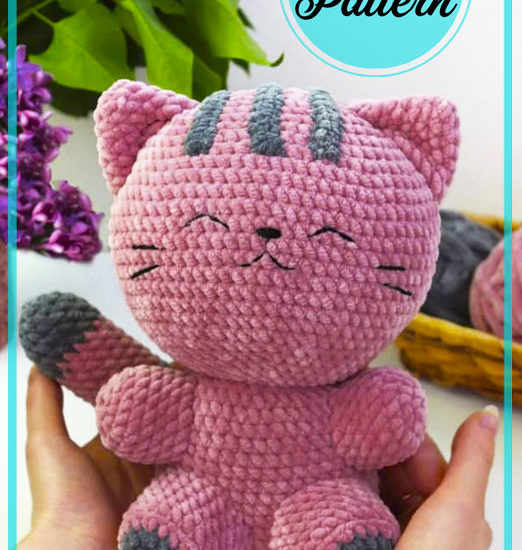 Plush Purple Cat Amigurumi free crochet pattern