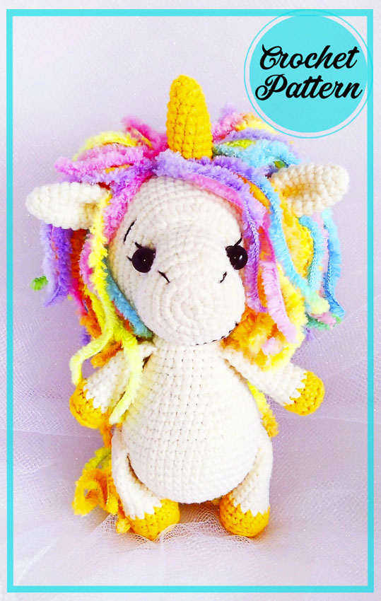 Unicorn with a palm Amigurumi free Crochet Pattern