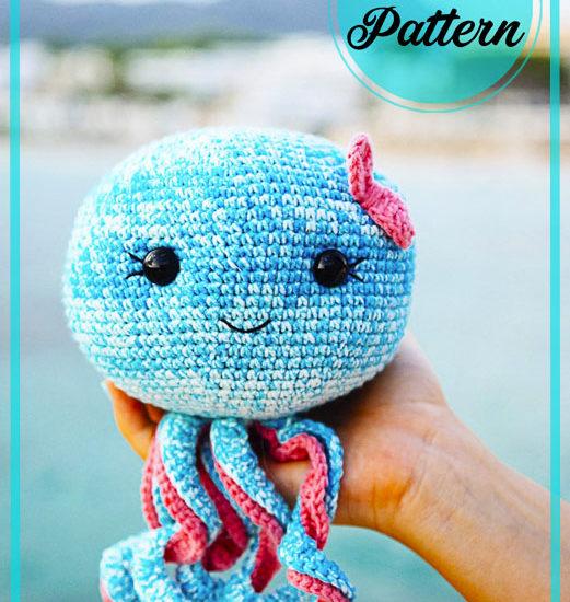 Blue Octopus Amigurumi crochet pattern