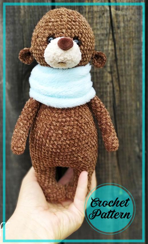 Sad Teddy Bear Amigurumi Crochet Pattern