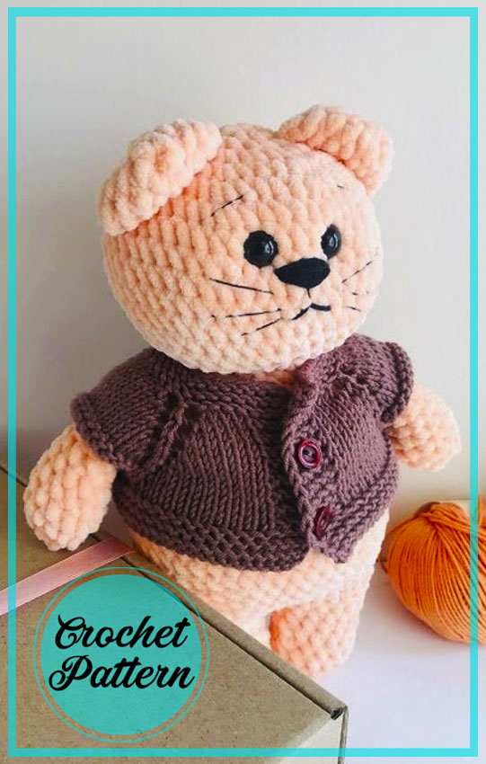 Velvet Cat Toy Amigurumi Crochet Free Pattern