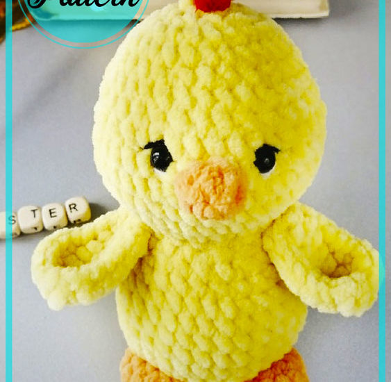 Little yellow chicken amigurumi crochet free pattern