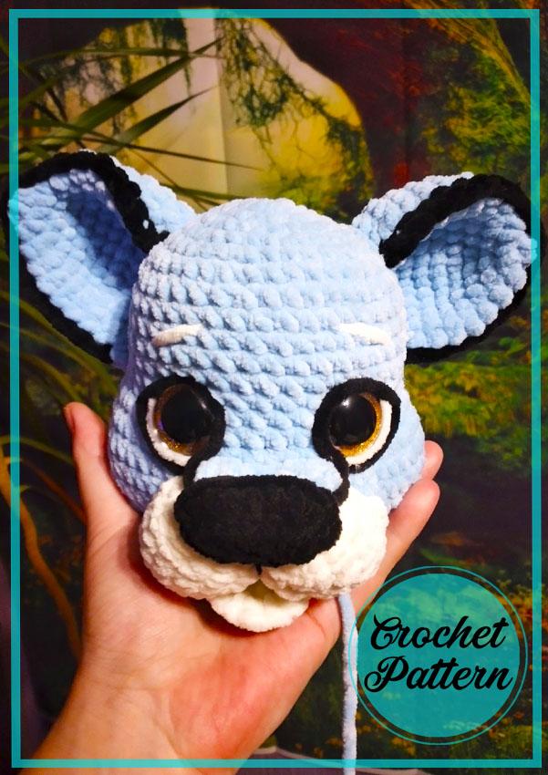 Blue Cougar Amigurumi Crochet Free Pattern