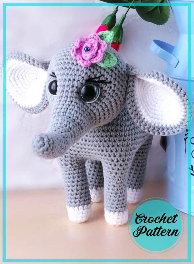 Elephant Lexi Amigurumi free crochet pattern