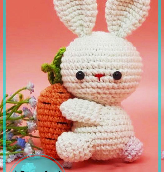 Baby Bunny Keychain Amigurumi Crochet Pattern