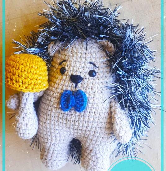 Baby Hedgehog Amigurumi crochet free pattern