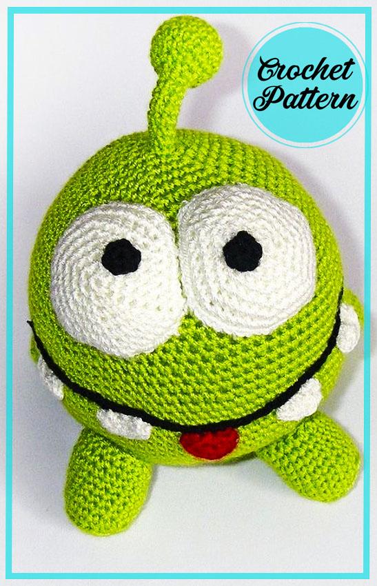 Cute Om Nom Amigurumi crochet pattern