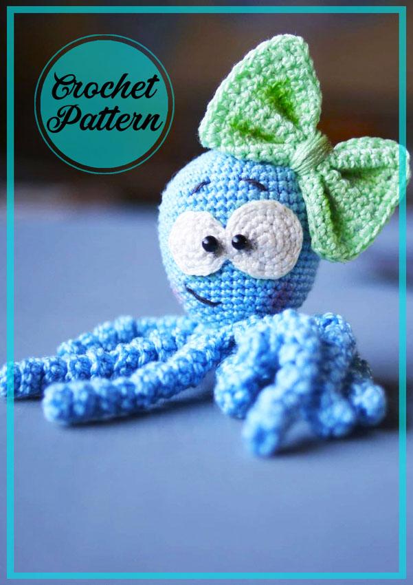 Baby Octopus amigurumi free crochet pattern