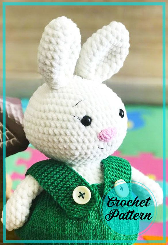 Velvet Bunny in Dress Amigurumi Crochet Pattern