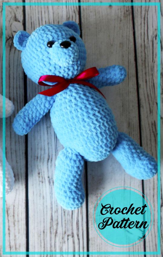 Velvet Teddy Bear Amigurumi Crochet Free Pattern