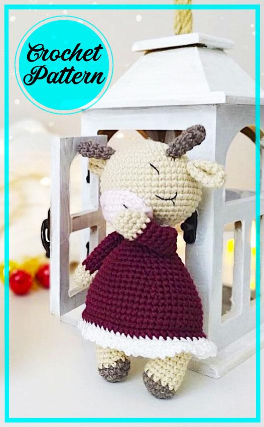 Zoya the cow Amigurumi Free Crochet Pattern