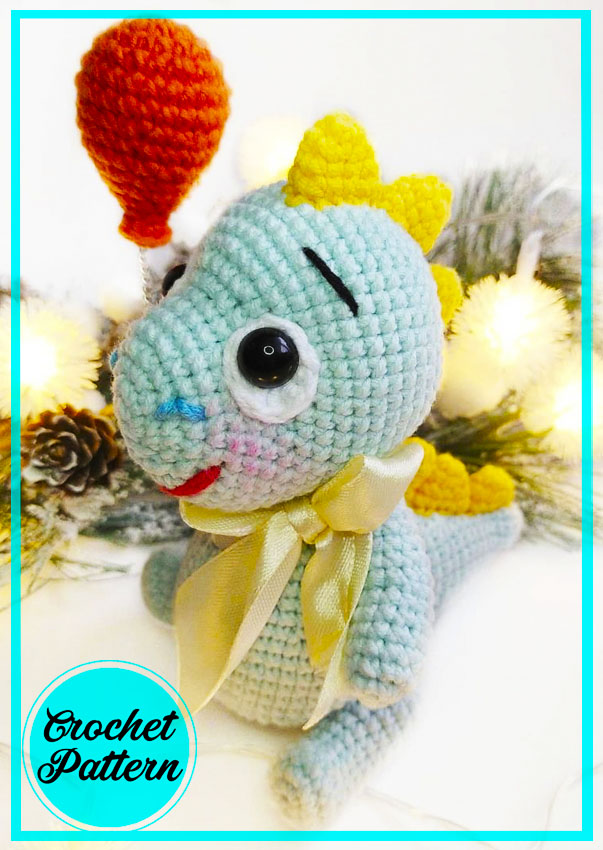 Baby Dinosaur Amigurumi free crochet pattern