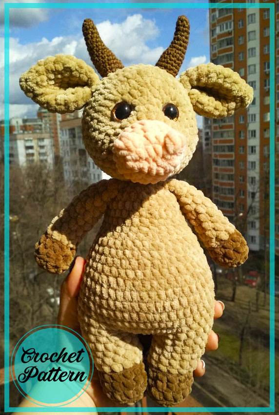 Bull Innocent Amigurumi crochet free pattern