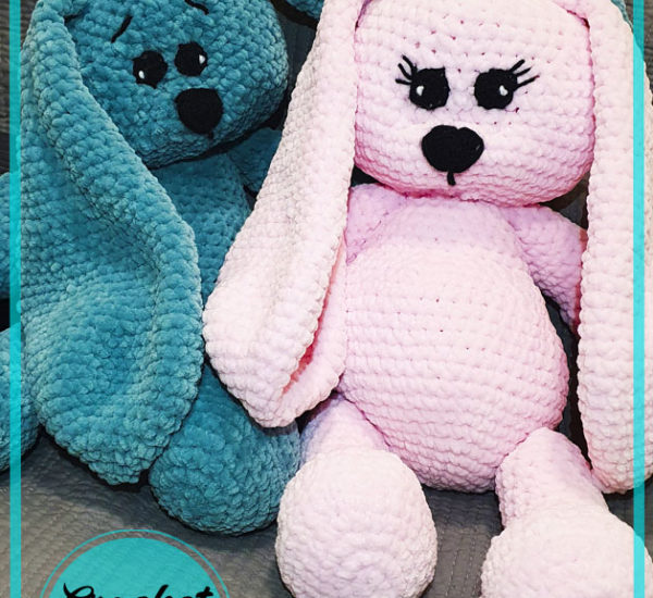 Puffy Plush Bunny Amigurumi Crochet Pattern