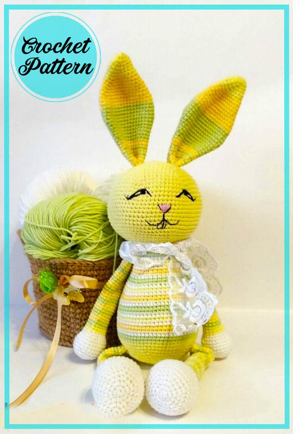 Spring Bunny Amigurumi free crochet pattern