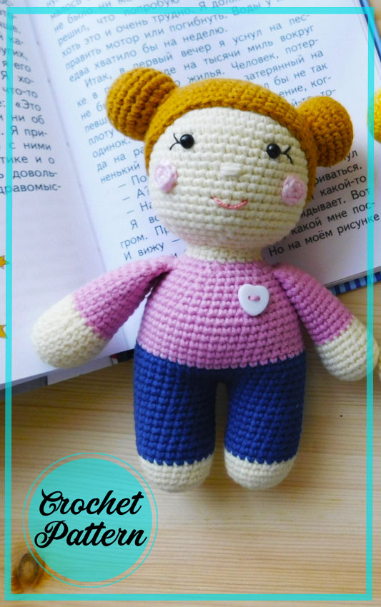 Stesha doll Amigurumi crochet pattern