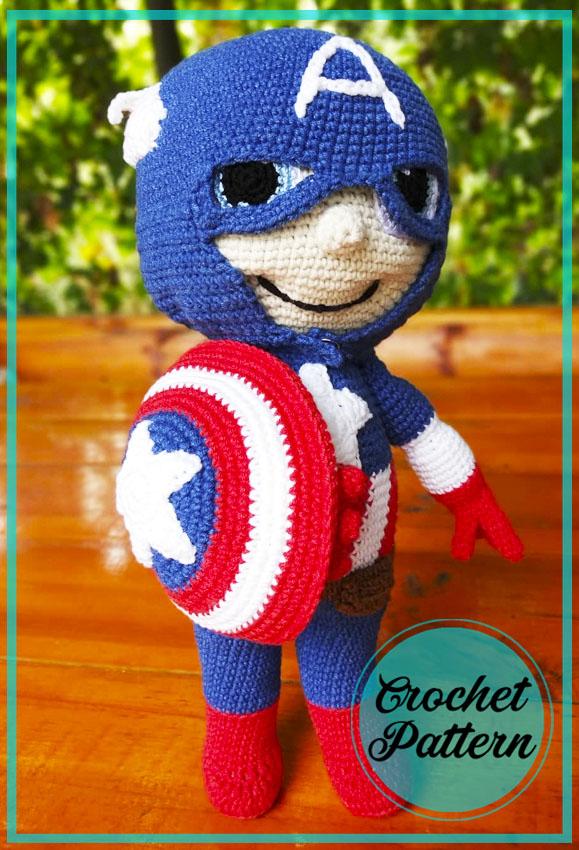 Captain America Amigurumi Free Pattern